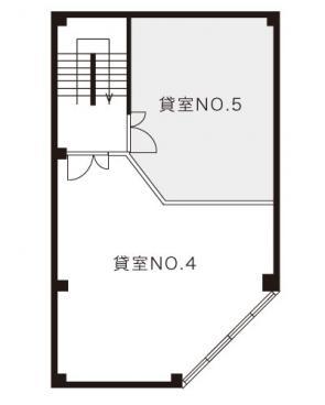 京町ビル No.5号室間取り図