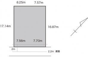 京町二丁目売地間取り図